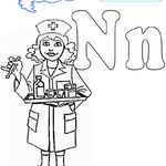 N is for Nurse Coloring Page  Twisty Noodle
